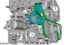 ремень генератора ford fiesta 1.8 дизель