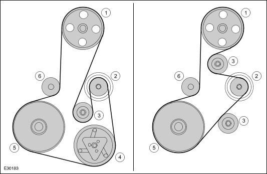 Схема приводного ремня 1.4