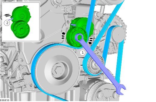 схема ремень генератора форд транзит