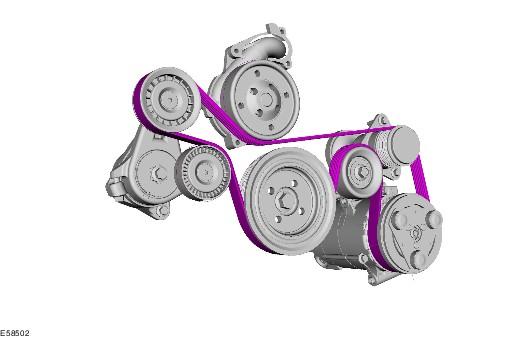 Форд транзит схема установки ремня генератора.