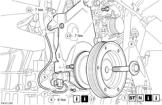 Замена ремня грм на форд фокус 2 своими руками 190